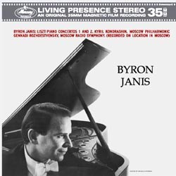 Franz Liszt: Piano Concertos No. 1 in E flat major and No. 2 in A major - Byron Janis and the Moscow Philharmonic Orchestra conducted by Kyril Kondrashin MERCURY