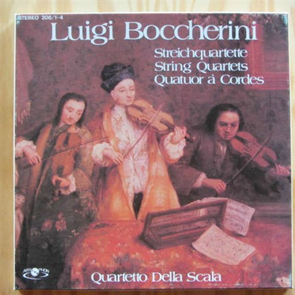 Boccherini 18 Quartets Op. 26, 27 and 6 Quartetto della Scala ARTIPHON