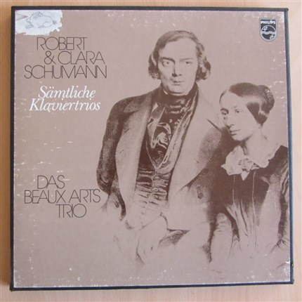 Robert & Clara Schumann  Los trios para piano  Beaux Arts Trio PHILIPS