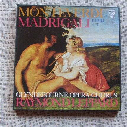 MONTEVERDI Madrigali Libri 3-4 Armstrong, Collins, Dickerson, Dean Glyndebourne Opera Chorus  Raymon Leppard PHILIPS