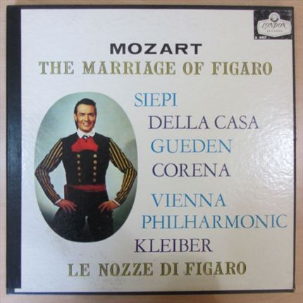 Mozart The marriage of Figaro Vienna Philharmonic Erich Kleiber Siepi, Della Casa, Gueden, Corena LONDON