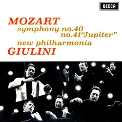 "Mozart: Symphonies Nos. 40 (K. 550) and 41 (K. 551) ""Jupiter"" - New Philharmonia Orchestra conducted by Carlo Maria Giulini DECCA SPEAKERS CORNER"