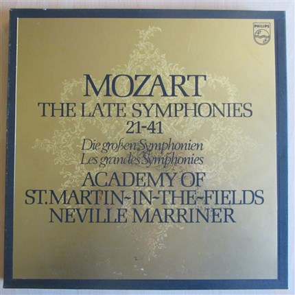 Mozart The late Symphonies 21-41 Academy St. Martin-in-the-Fields Neville Marriner PHILIPS