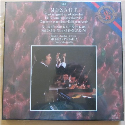 Mozart Piano Concertos Vol. 2 9, 11, 12, 13, 14 & 15 English Chamber Orchestra Murray Perahia CBS LP