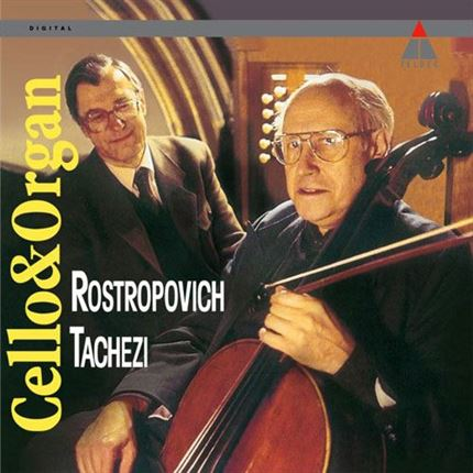 Mstislav Rostropovich Herber Tachezi Cello & Organ 180g Direct Metal Master Import 2LP analogphonic
