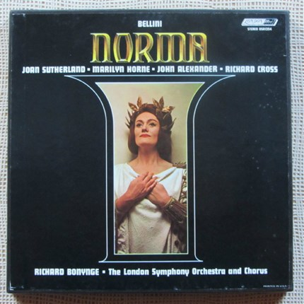 Bellini Norma Sutherland, Horne, Alexander, Cross London Symphony Orchestra and Chorus Richard Bonynge LONDON