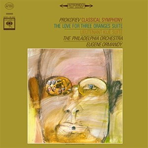 "PROKOFIEV Symphony No. 1 in D major (""Classical"" Symphony), op. 25; Suite from ""Lieutenant Kijé"", op. 60; Suite from ""The Love For Three Oranges"" ORMANDY COLUMBIA"