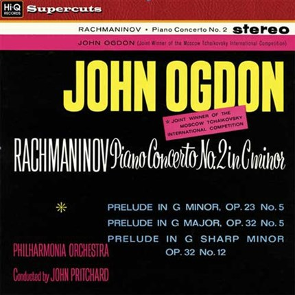 Rachmaninov Piano Concerto No. 2 John Ogdon HIQ Records180g LP