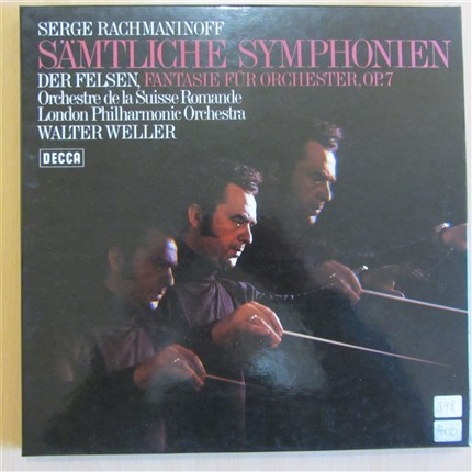 Rachamaninov Three Symphonies and Der Felsen London Philharmonic Orchestra Walter Weller DECCA