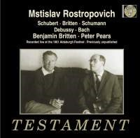 Mstislav Rostrovovich & Benjamin Britten at the 1961 Aldeburgh Festival 2 CD TESTAMENT