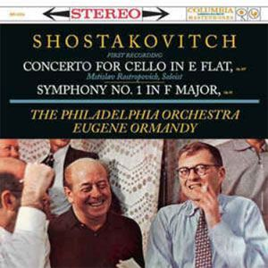 Shostakovitch: Cello Concerto & Symphony No. 1 Rostropovich Ormandy COLUMBIA  Speakers Corner LP