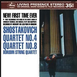 Dmitri Shostakovich  String Quartets No. 4 op. 83 and No. 8 op. 110   The Borodin String Quartet  MERCURY Speakers Corner