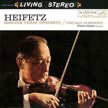 Sibelius Violin Concerto in D Minor Walter Hendl Chicago Symphony Orchestra  Jascha HEIFETZ RCA LIVING STEREO ANALOGUE PRODUCTIONS