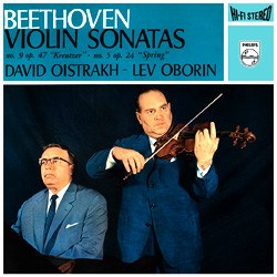 Beethoven: Sonatas for Piano and Violin Nos. 5 & 9 – Lew Oborin and David Oistrach PHILIPS