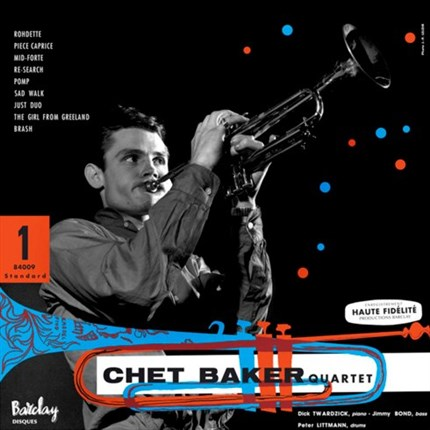 The Chet Baker Quartet Chet Baker Quartet Featuring Dick Twardzick SAM RECORDS180g LP