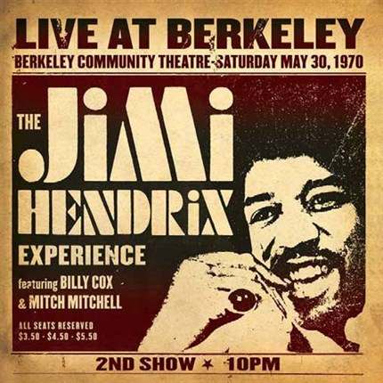 The Jimi Hendrix Experience Live At Berkeley Numbered Limited Edition SONY LEGACY200g 2LP